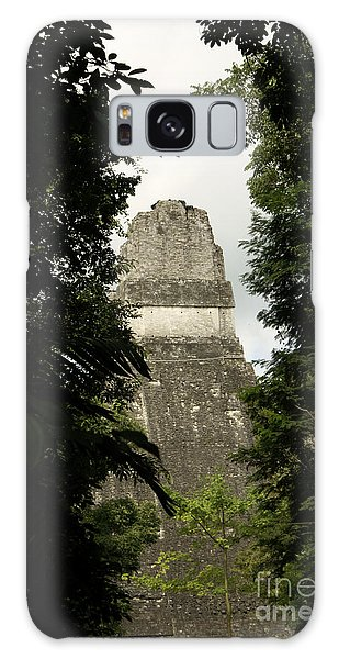 Temple In The Trees Tikal Guatemala Galaxy Case