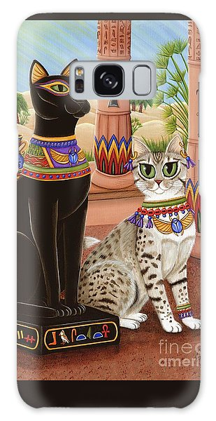 Galaxy Case featuring the painting Temple Of Bastet - Bast Goddess Cat by Carrie Hawks