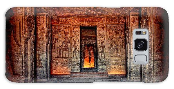 Temple Of Hathor And Nefertari Abu Simbel Galaxy Case