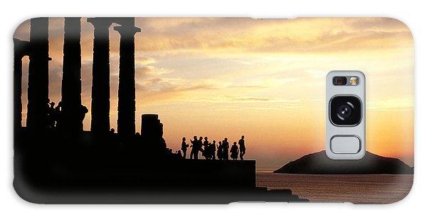 Temple Of Poseiden In Greece Galaxy Case