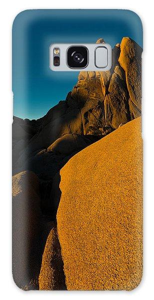 Temple Rock, Joshua Tree, Sunrise Galaxy Case