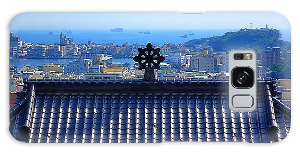 Temple Roof And Kaohsiung Port Galaxy Case by Yali Shi