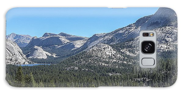 Tenaya Lake And Surrounding Mountains Yosemite National Park Galaxy Case