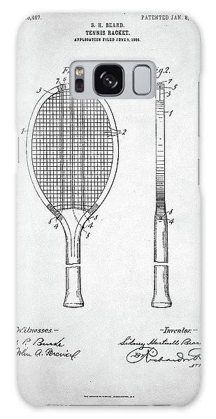 Tennis Racket Patent 1907 Galaxy Case by Taylan Apukovska