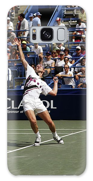Tennis Serve Galaxy Case by Sally Weigand