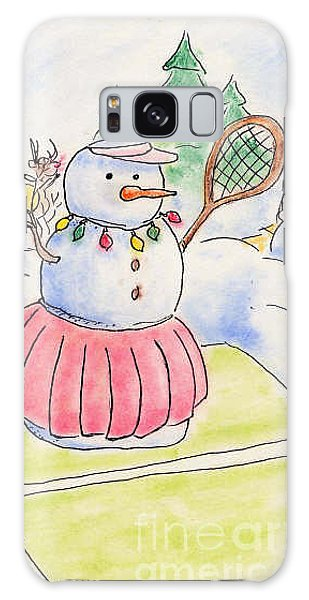 Tennis Snowlady Galaxy Case by Vonda Lawson-Rosa