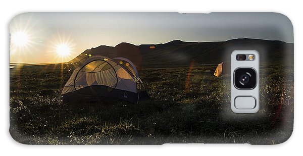 Tenting In The Midnight Sun Galaxy Case