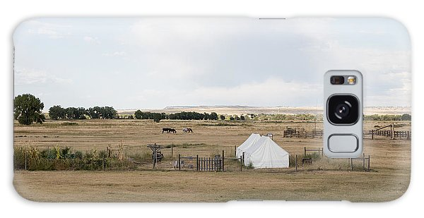 Tents At Fort Laramie National Historic Site In Goshen County Galaxy Case by Carol M Highsmith