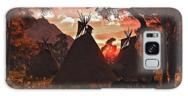 Tepee Sunset Galaxy Case by Walter Colvin