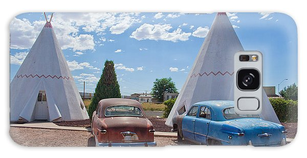 Tepee With Old Cars Galaxy Case