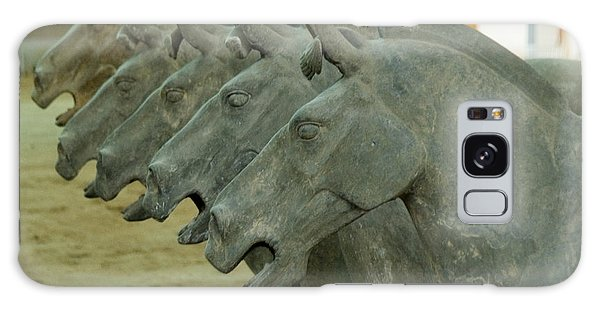 Terra Cotta Horses Galaxy Case