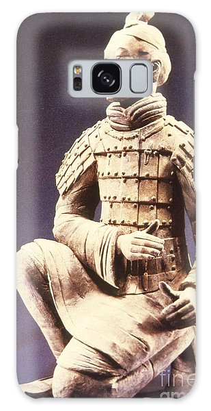 Galaxy Case featuring the photograph Terracotta Soldier by Heiko Koehrer-Wagner