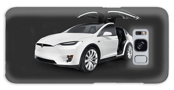 Tesla Model X Luxury Suv Electric Car With Open Falcon-wing Doors Art Photo Print Galaxy Case