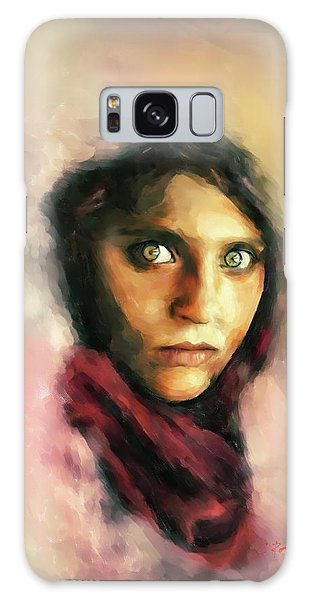 Afghan Girl Galaxy Case