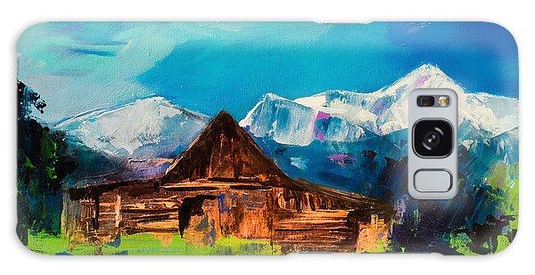 Teton Barn  Galaxy Case by Elise Palmigiani