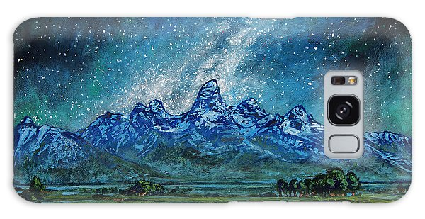 Galaxy Case featuring the painting Teton Milky Way by Aaron Spong