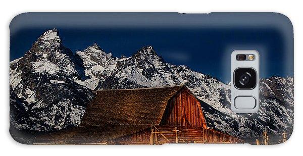 Teton Mountains With Barn Galaxy Case