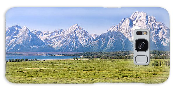 Teton Range Galaxy Case - Teton Panorama by Delphimages Photo Creations
