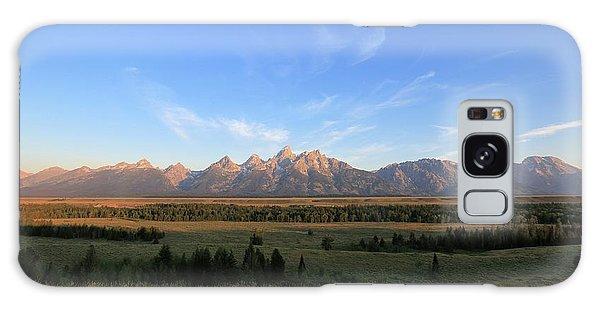 Teton Range After Sunrise Galaxy Case