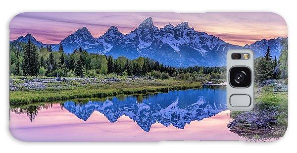Sunset Teton Reflection Galaxy Case