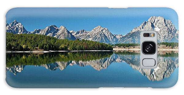 Galaxy Case featuring the photograph Teton Reflections II by Gary Lengyel