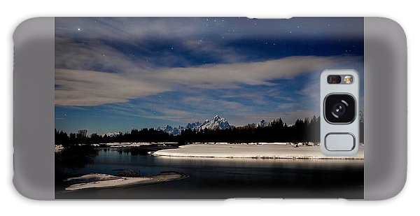 Tetons At Moonlight Galaxy Case