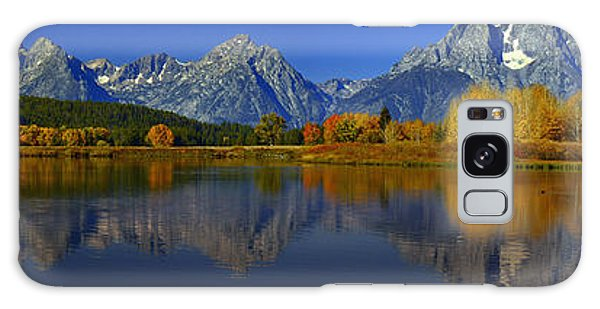 Tetons From Oxbow Bend Galaxy Case