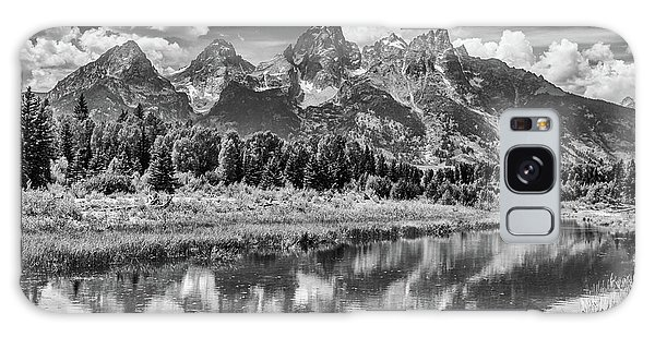 Tetons In Black And White Galaxy Case by Mary Hone