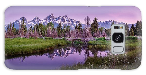 Tetons In Pink Galaxy Case