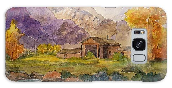 Tetons Ranch Galaxy Case by Larry Hamilton