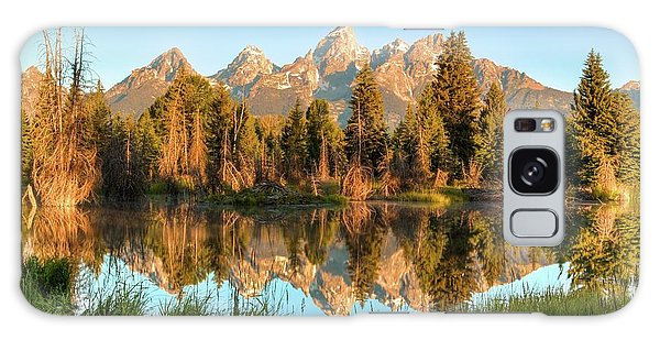 Tetons Reflection Galaxy Case