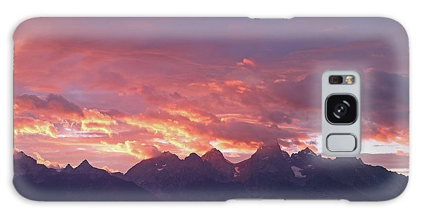 Tetons Sunset Galaxy Case