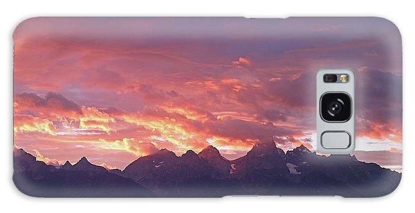 Tetons Sunset Galaxy Case