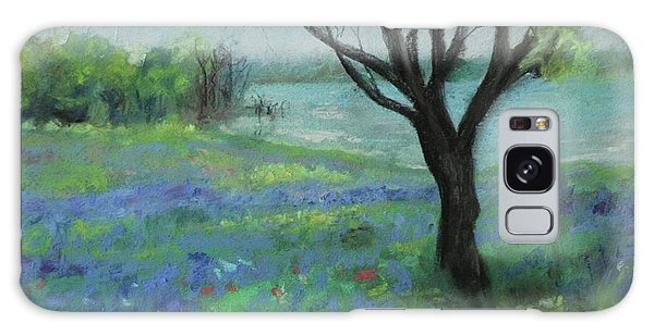 Galaxy Case featuring the painting Texas Bluebonnet Trail by Robin Maria Pedrero