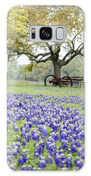 Texas Bluebonnets And Rust Galaxy Case