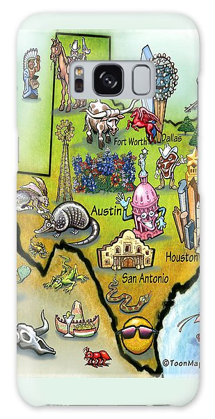 Texas Cartoon Map Galaxy Case