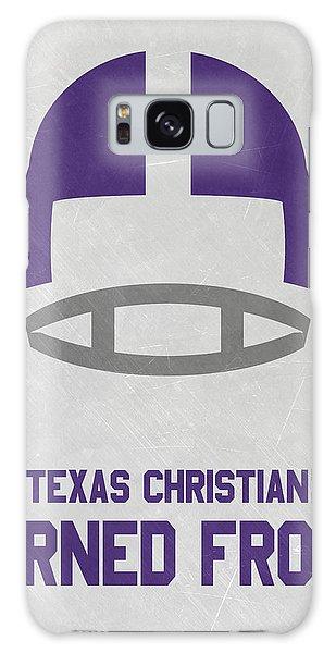 March Galaxy Case - Texas Christian Horned Frogs Vintage Football Art by Joe Hamilton