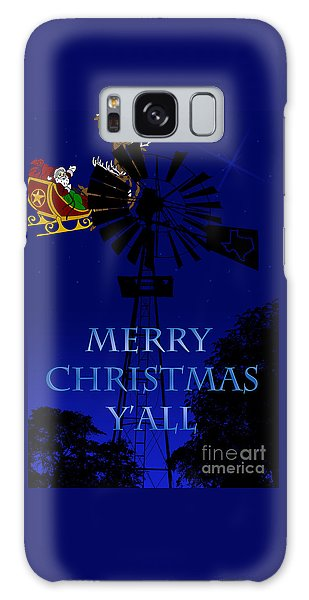 Texas Christmas Card Galaxy Case