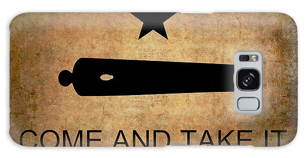 Cannon Galaxy Case - Texas Come And Take It Flag  1835 by Daniel Hagerman
