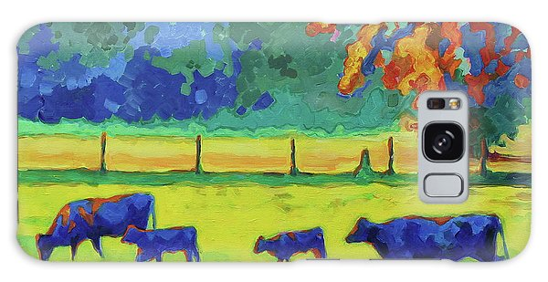 Texas Cows And Calves At Sunset Painting T Bertram Poole Galaxy Case by Thomas Bertram POOLE