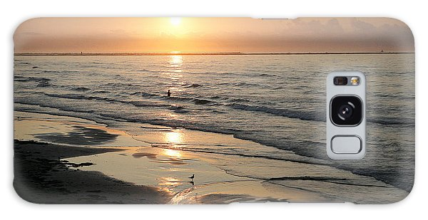 Texas Gulf Coast At Sunrise Galaxy Case