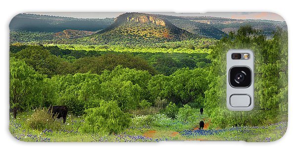 Texas Hill Country Ranch Road Galaxy Case by Darryl Dalton