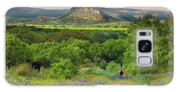 Texas Hill Country Ranch Road Galaxy Case by Darryl Dalton