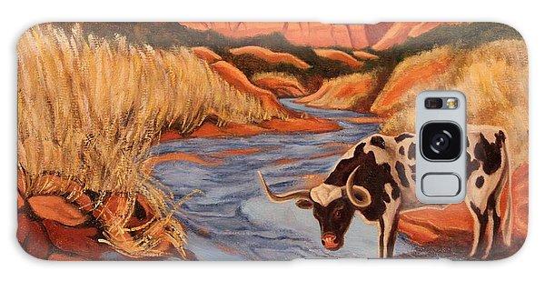 Texas Longhorn In Palo Duro Canyon Galaxy Case