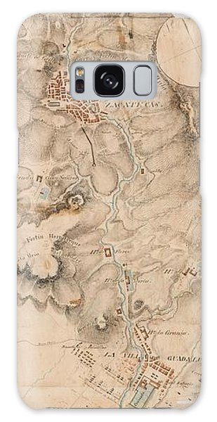 Texas Revolution Santa Anna 1835 Map For The Battle Of San Jacinto  Galaxy Case
