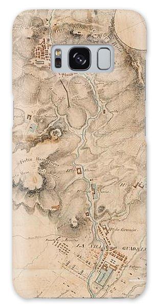 Texas Revolution Santa Anna 1835 Map For The Battle Of San Jacinto  Galaxy Case