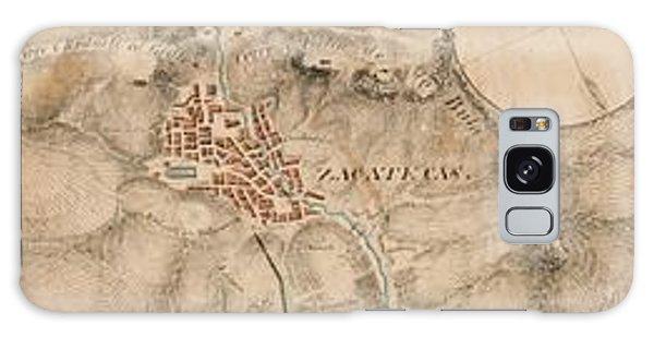 Texas Revolution Santa Anna 1835 Map For The Battle Of San Jacinto With Border Galaxy Case