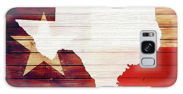 Traveler Galaxy Case - Texas Rustic Map On Wood by Dan Sproul