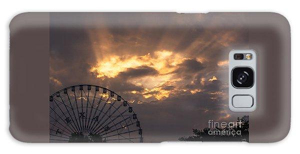 Texas Star Ferris Wheel And Sun Rays Galaxy Case