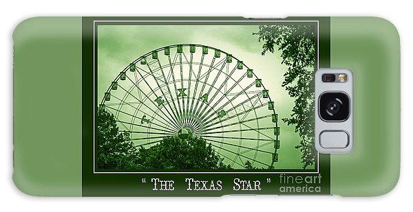 Texas Star In Green Galaxy Case